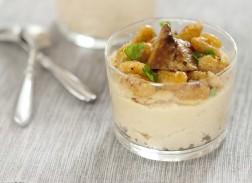 Verrine crousti fondante au foie gras aux haricots tarbais