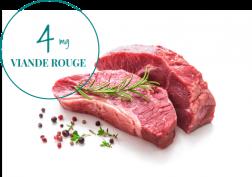4mg de fer dans la viande rouge