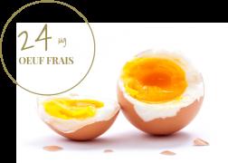 oeuf frais 24μg de vitamine b9
