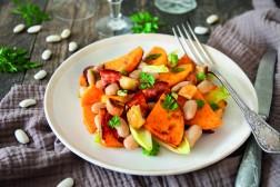 Salade chaud-froid butternut, Haricot Tarbais & chorizo