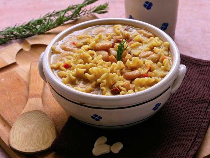 Soupe Haricots Tarbais et pâtes
